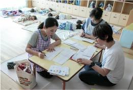 保育教諭の一日、手紙やノートなど帰宅準備